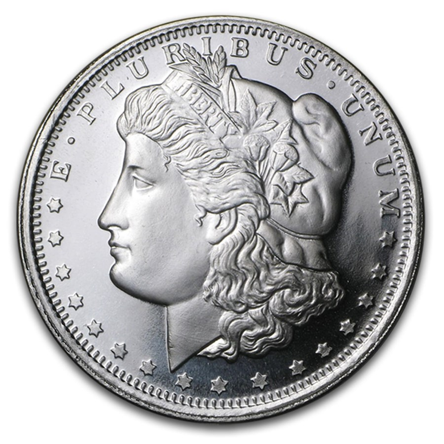 1 Oz Silver Round Morgan Dollar Design 1 Oz Silver