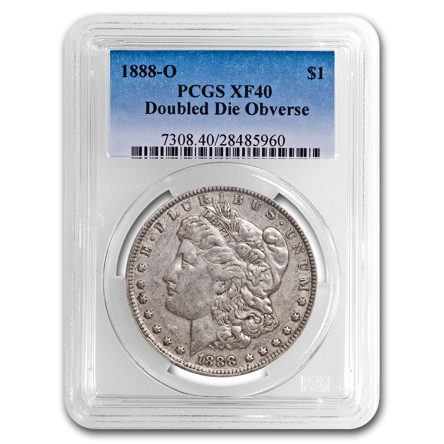 1888-O XF-40 PCGS (VAM-4, Hot Lips, Doubled Die, Top-100)