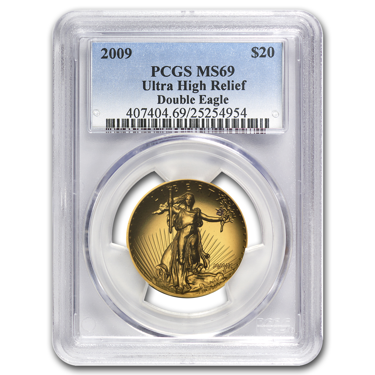 2009 Ultra High Relief Double Eagle MS-69 PCGS