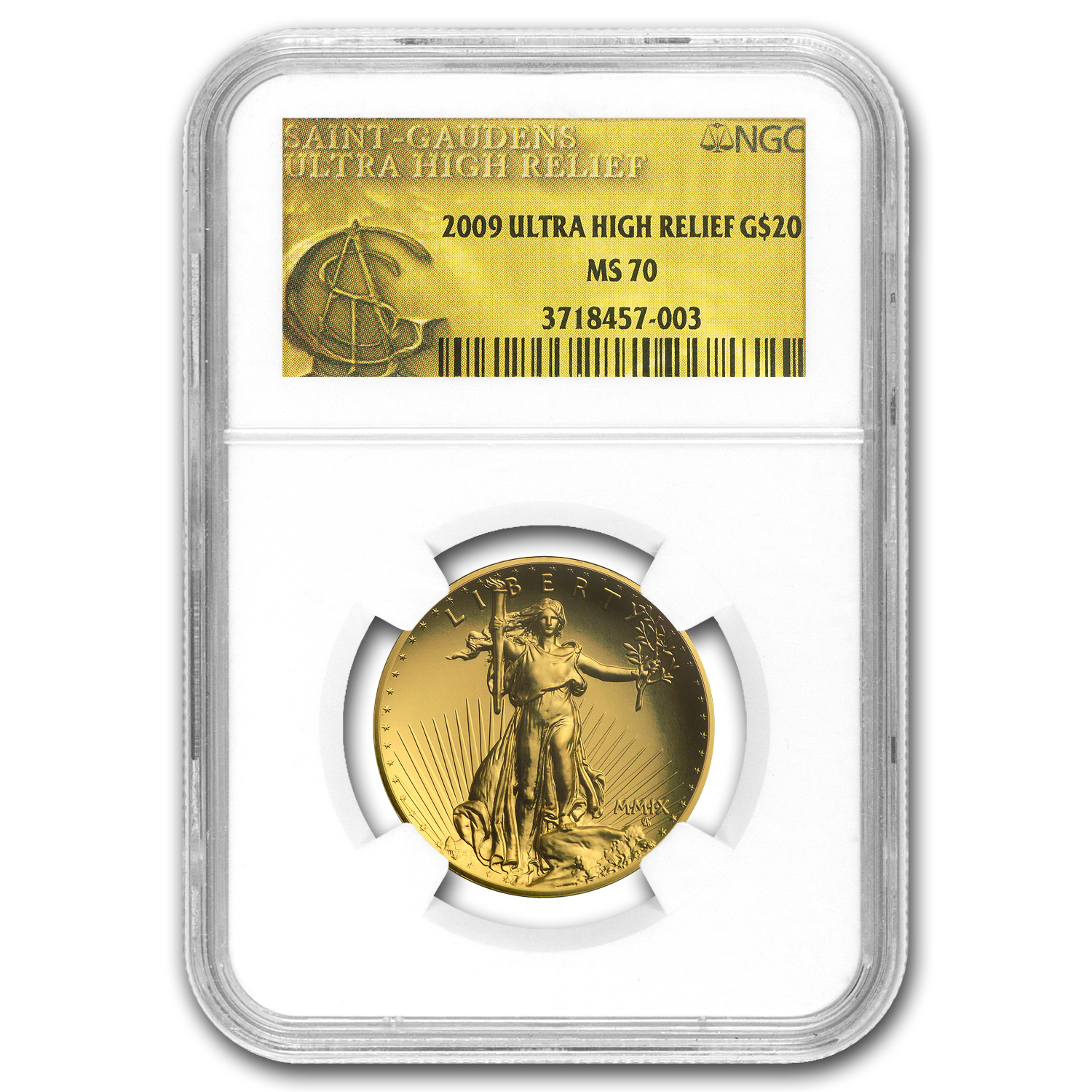 2009 Ultra High Relief Gold Double Eagle MS-70 NGC (Gold Label)