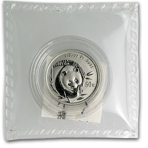 2003 China 1/20 oz Platinum Panda BU (Sealed)
