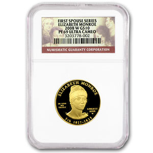 2008-W 1/2 oz Proof Gold Elizabeth Monroe PF-69 NGC
