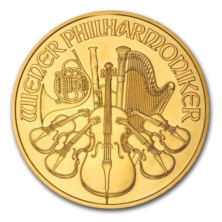 2009 20 oz Gold Austrian Philharmonic (20th Ann) (W/Box & Coa)