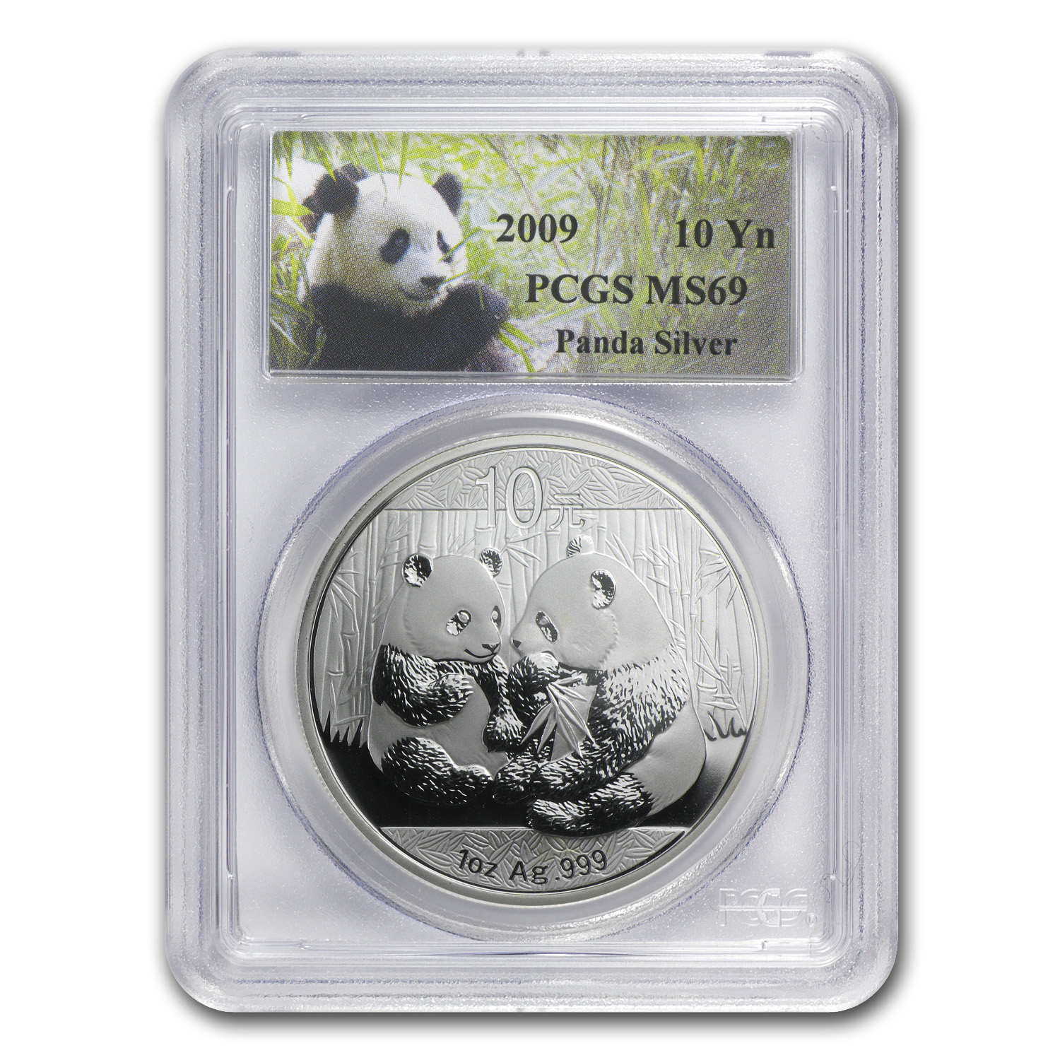2009 China 1 oz Silver Panda MS-69 PCGS