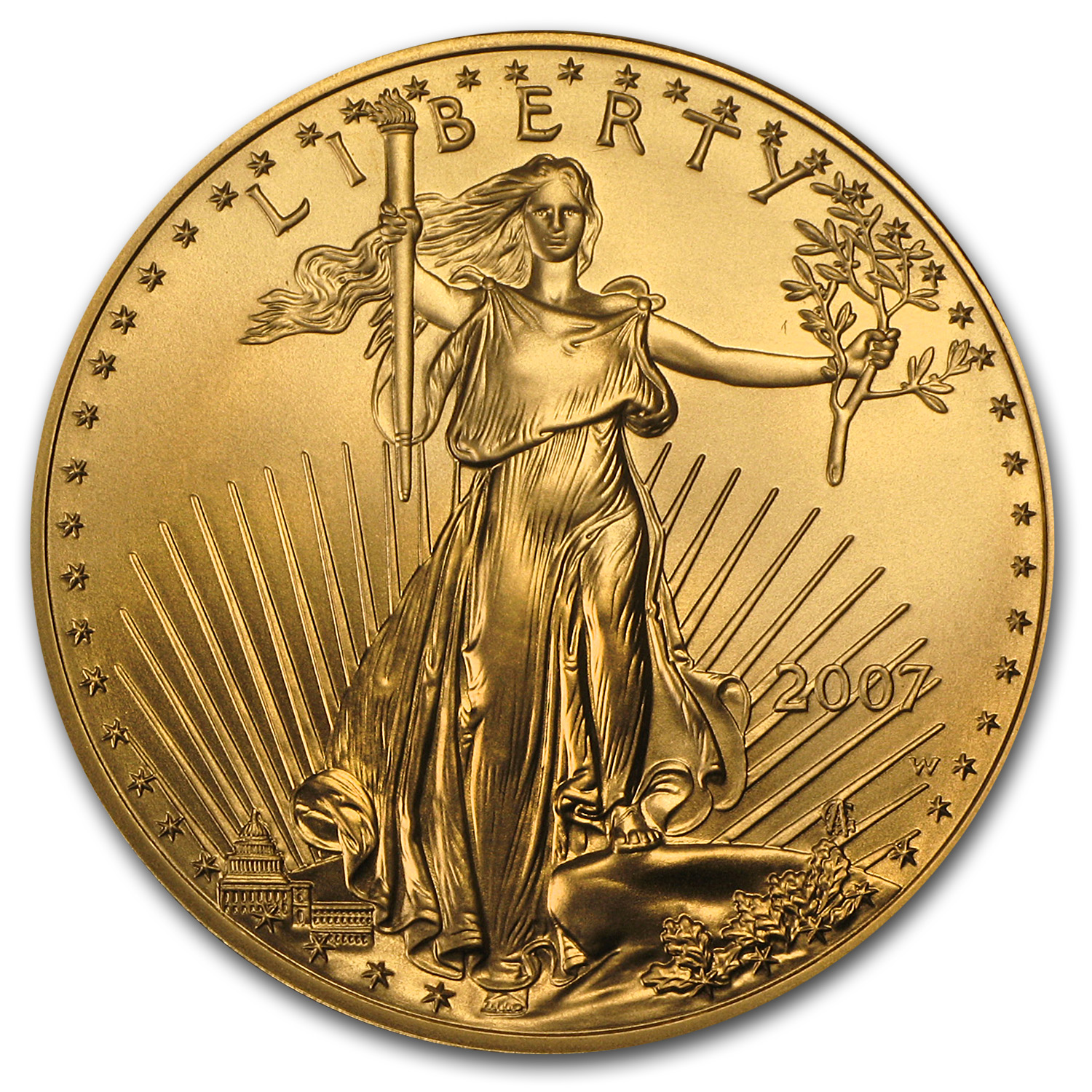 2007-W 1 oz Burnished Gold Eagle (Capsule Only)