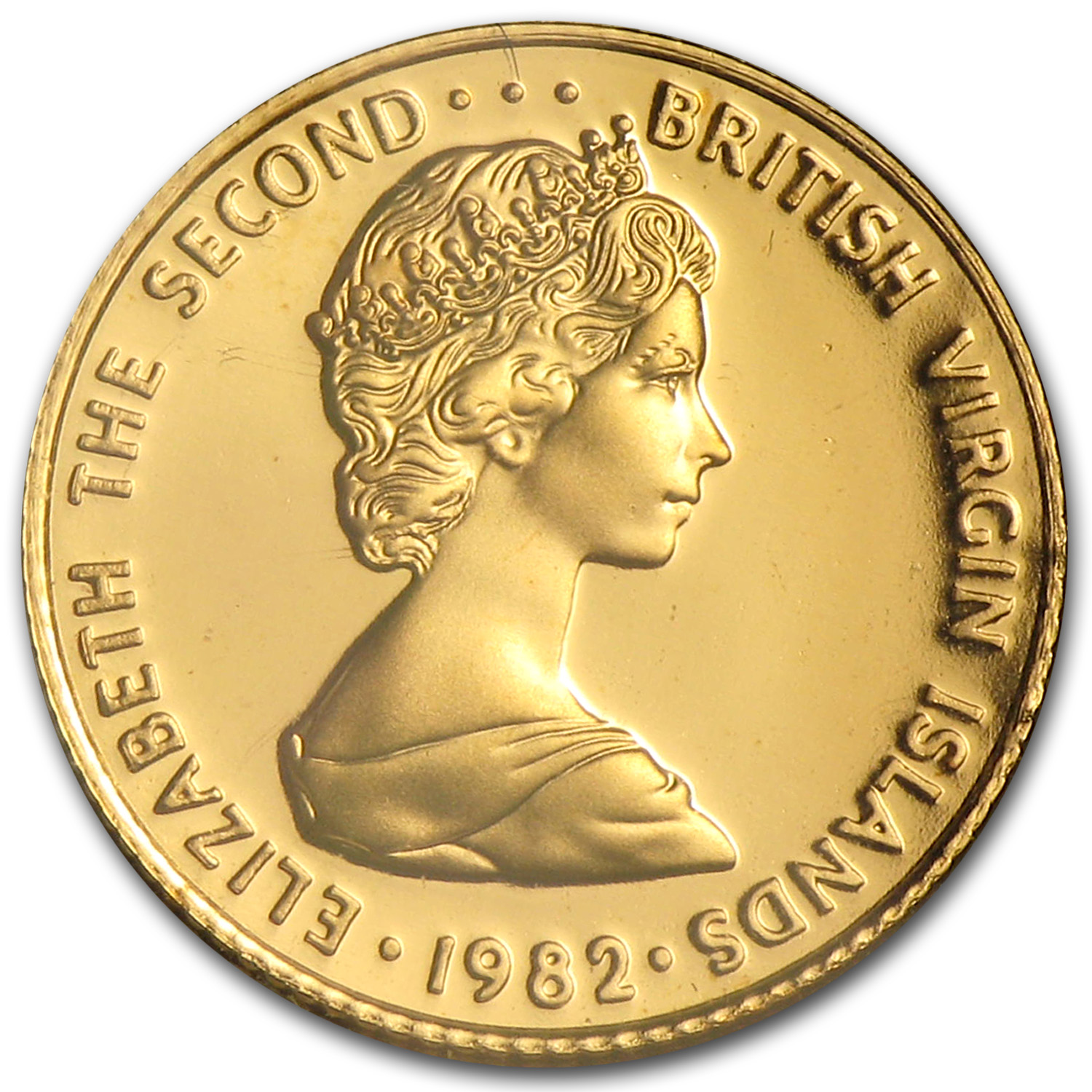 1982 British Virgin Islands Proof Gold 25 Dollars