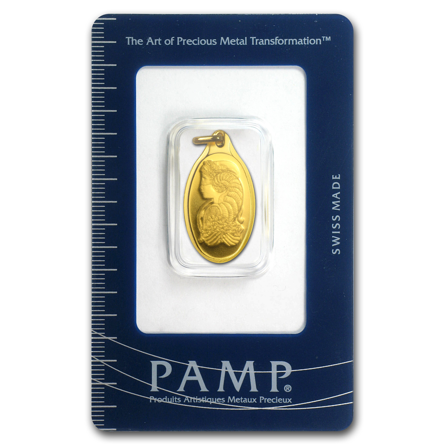 5 gram Gold Pendant - PAMP Suisse (Fortuna, Oval)