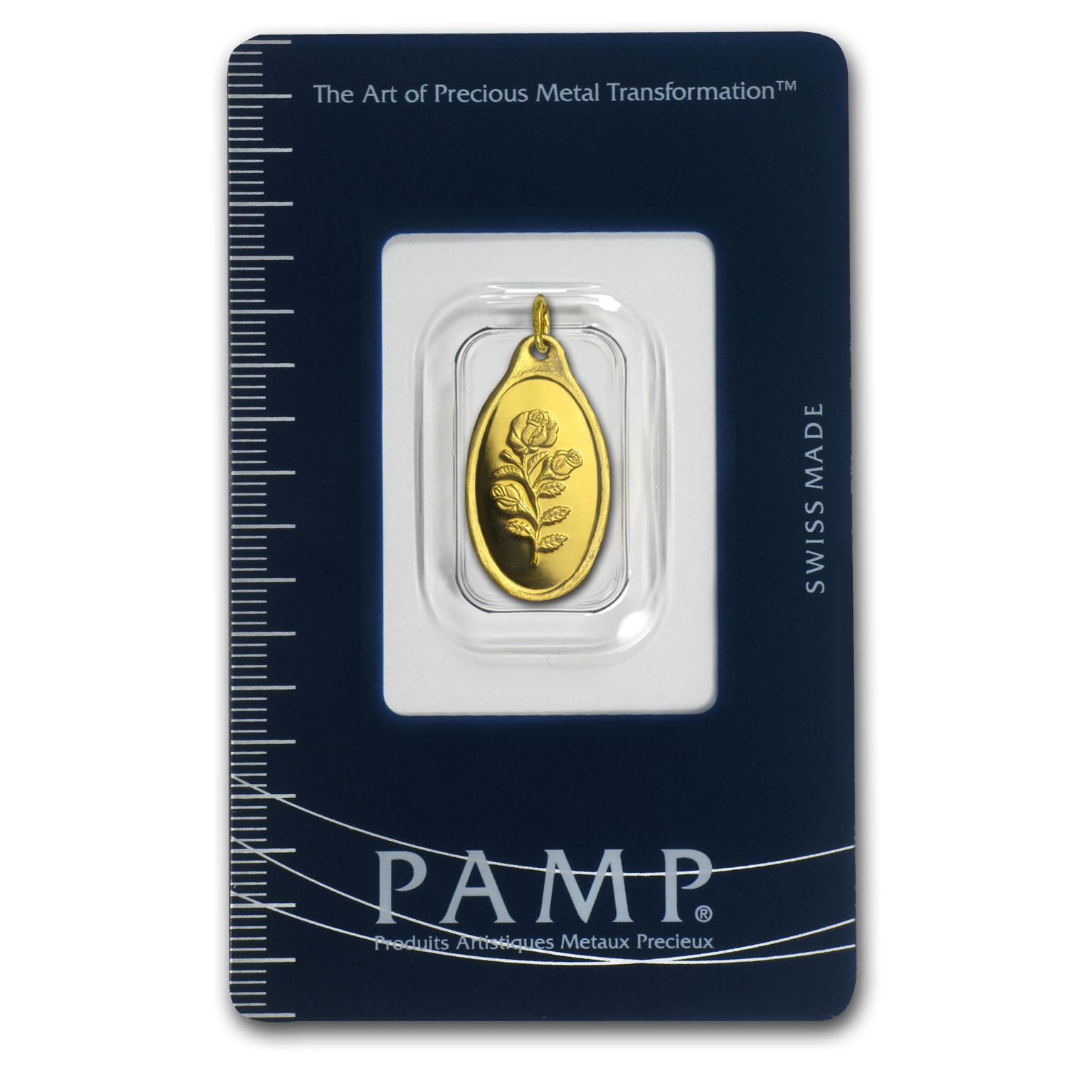 5 gram Gold Pendants - Pamp Suisse (Rose, Oval)