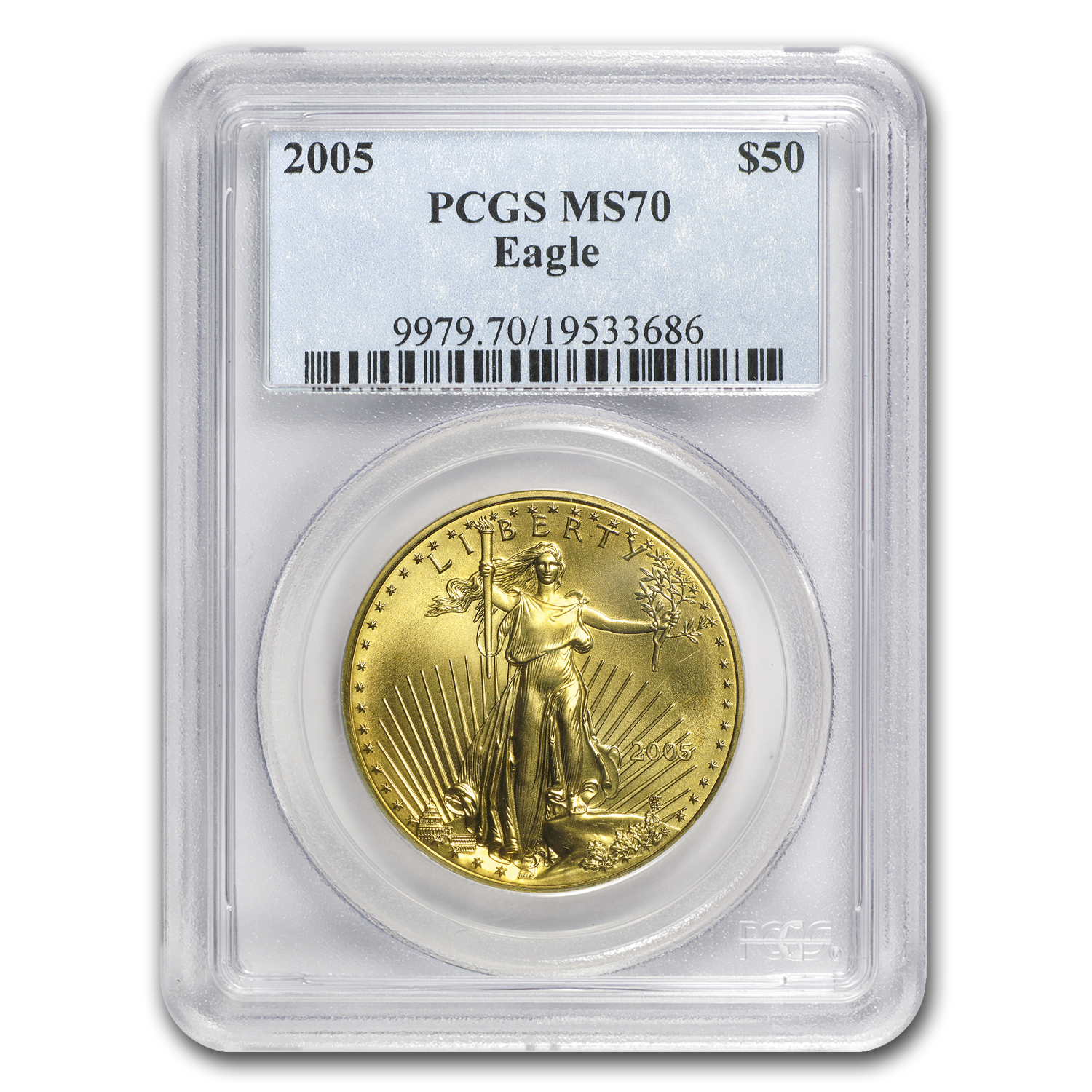 2005 1 oz Gold American Eagle MS-70 PCGS