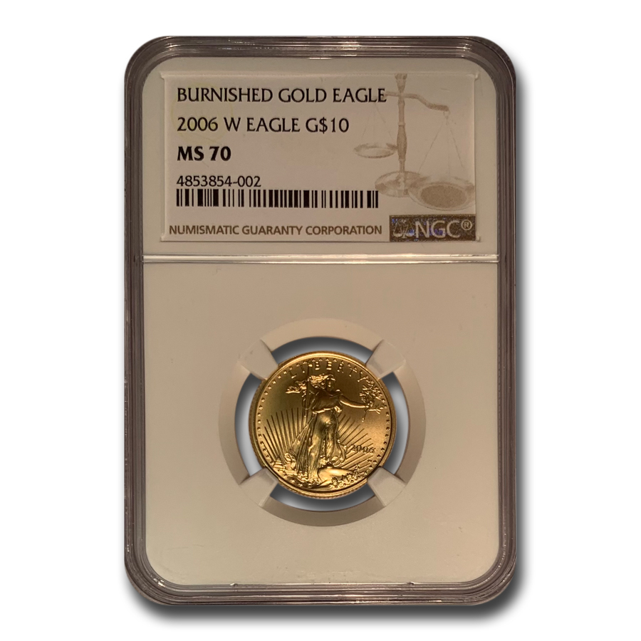 2006-W 1/4 oz Burnished Gold American Eagle MS-70 NGC