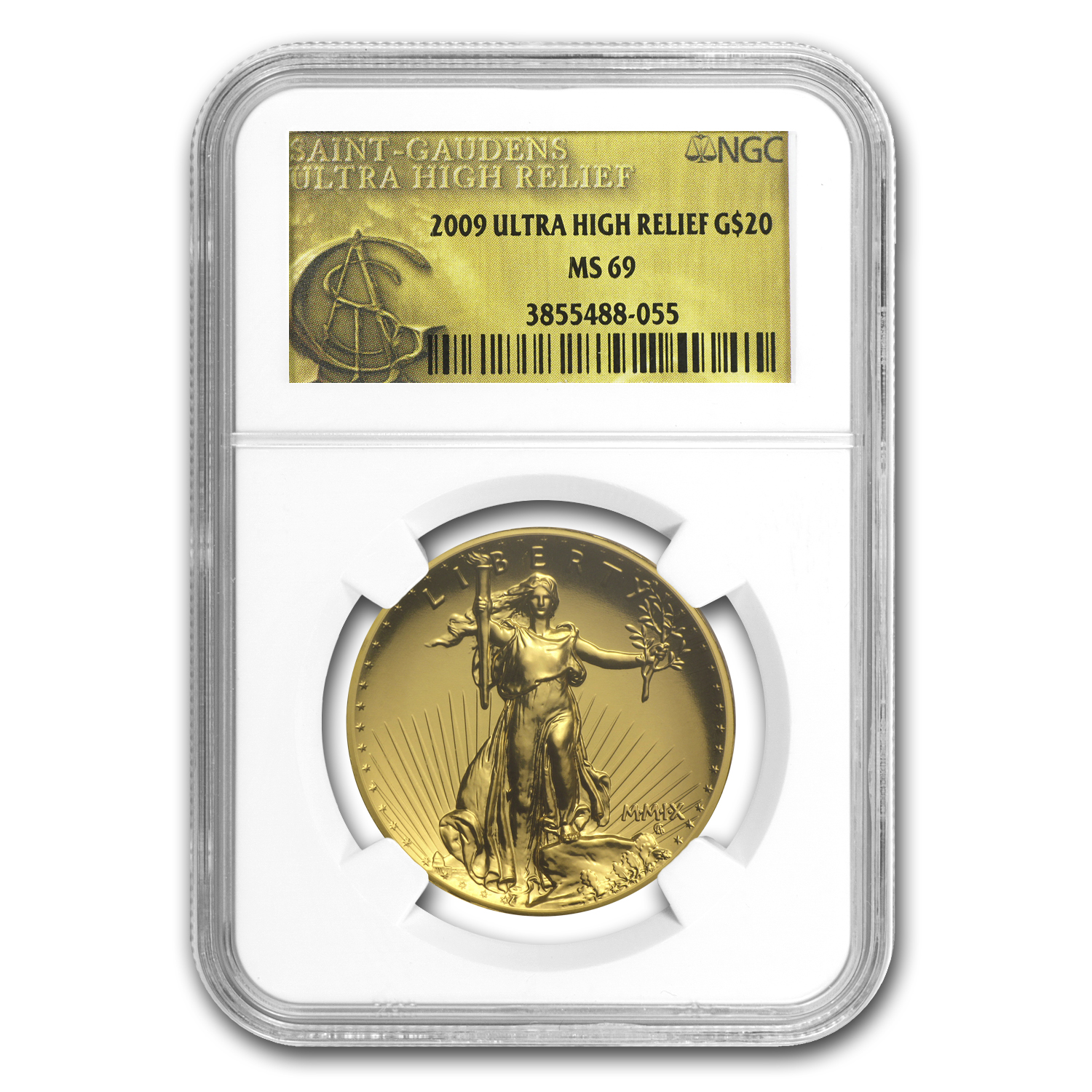 2009 Ultra High Relief Double Eagle MS-69 NGC (Gold Label)