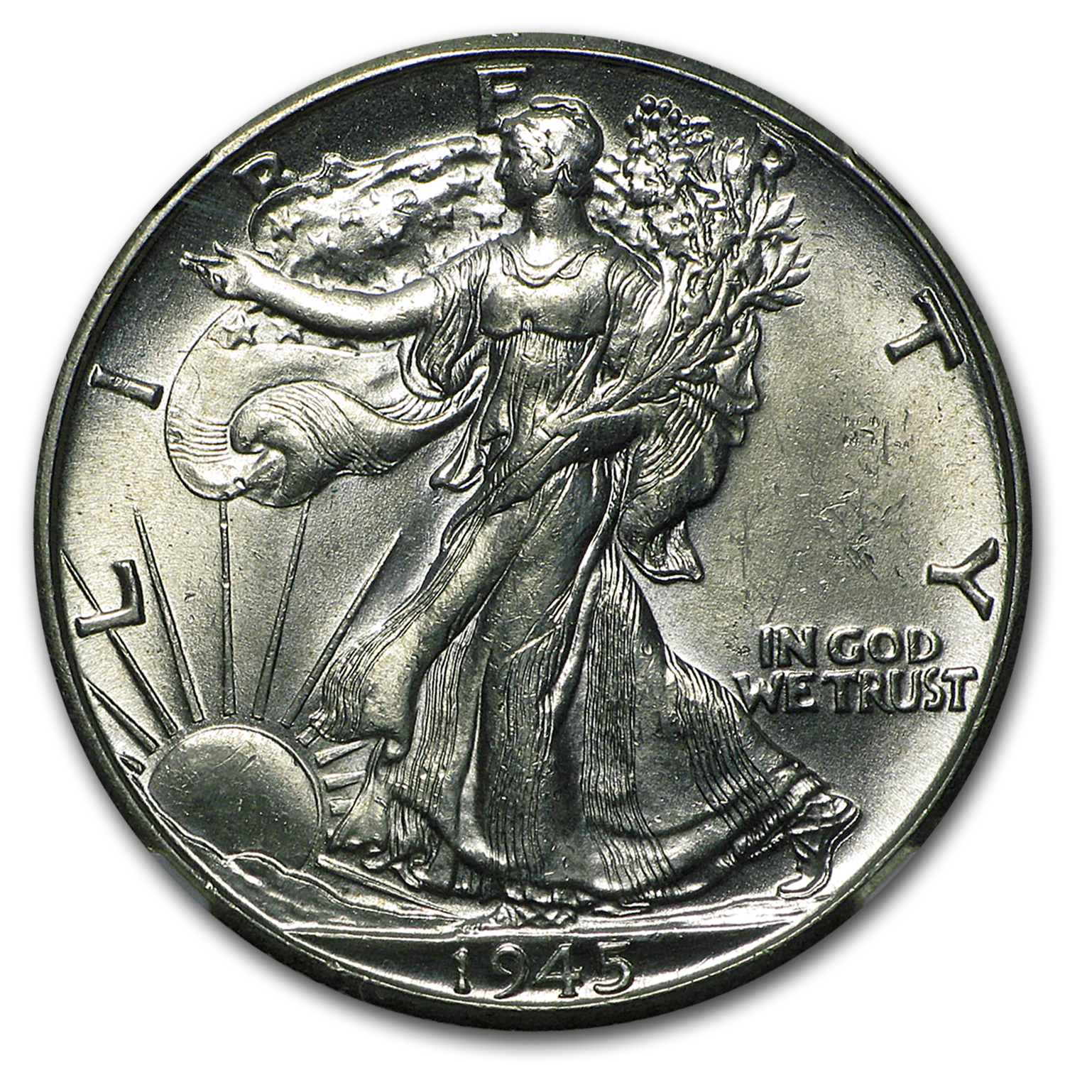 1945-D Walking Liberty Half Dollar MS-63 NGC