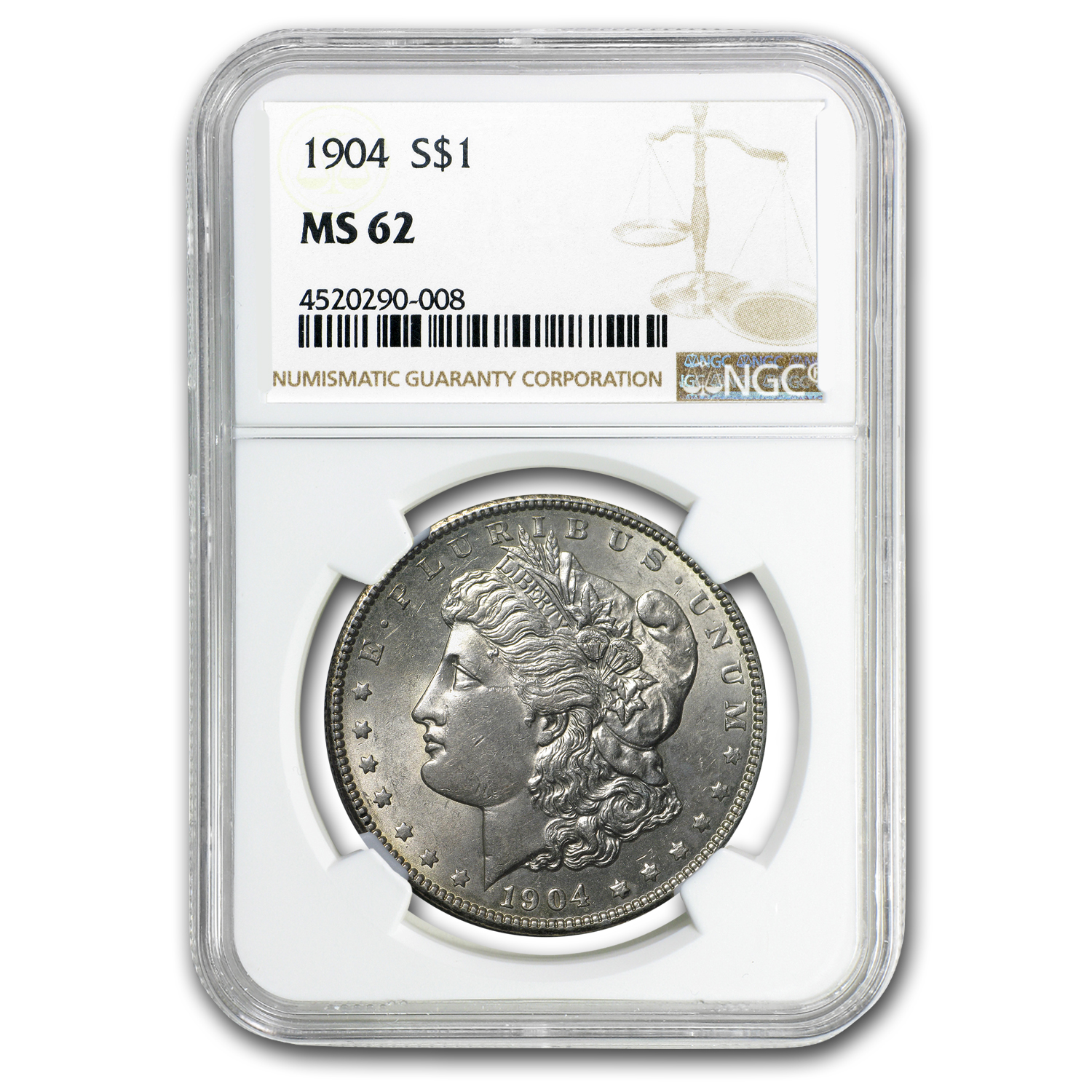 1904 Morgan Dollar MS-62 NGC
