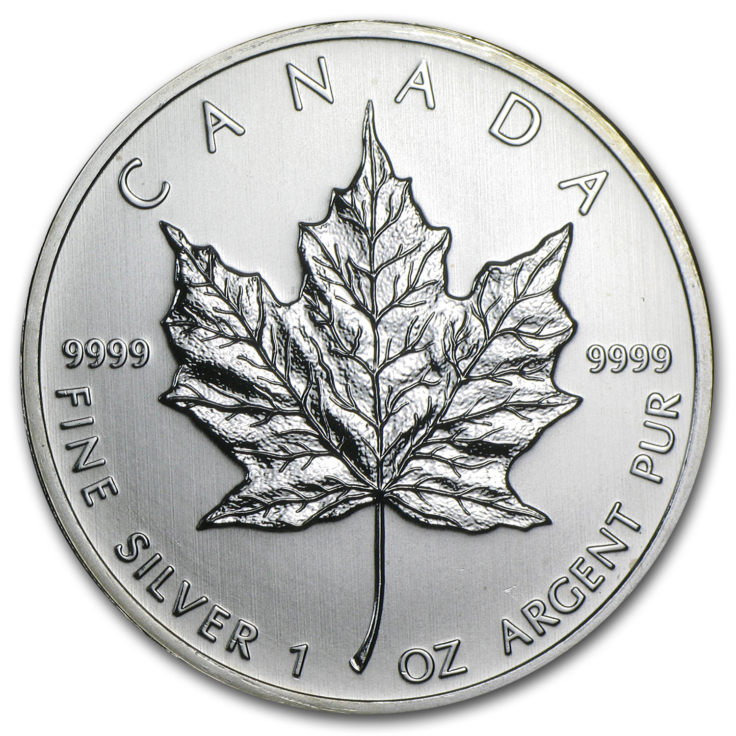 2010 1 oz Silver Canadian Maple Leaf BU