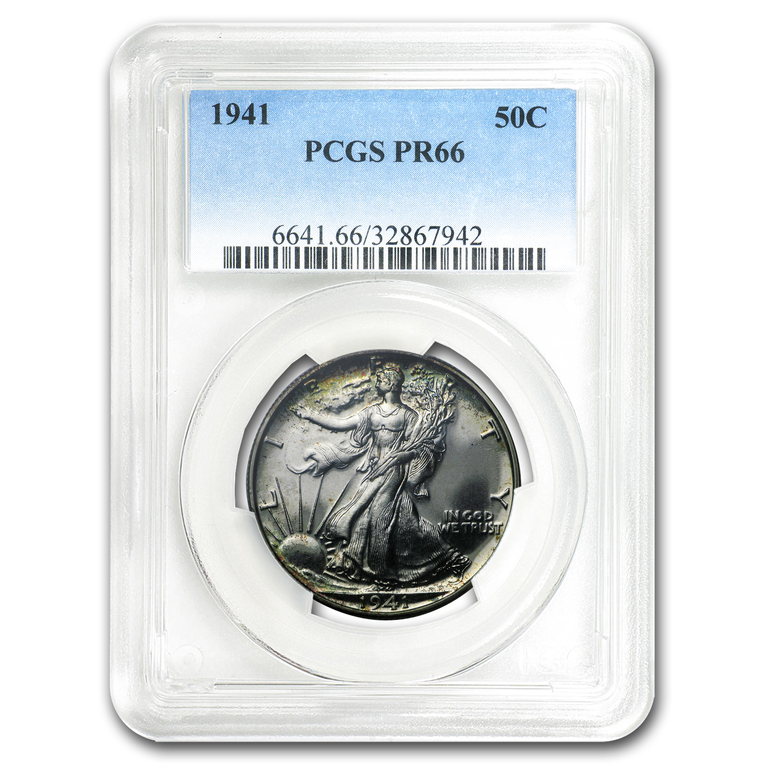 1941 Walking Liberty Half Dollar Proof-66 PCGS