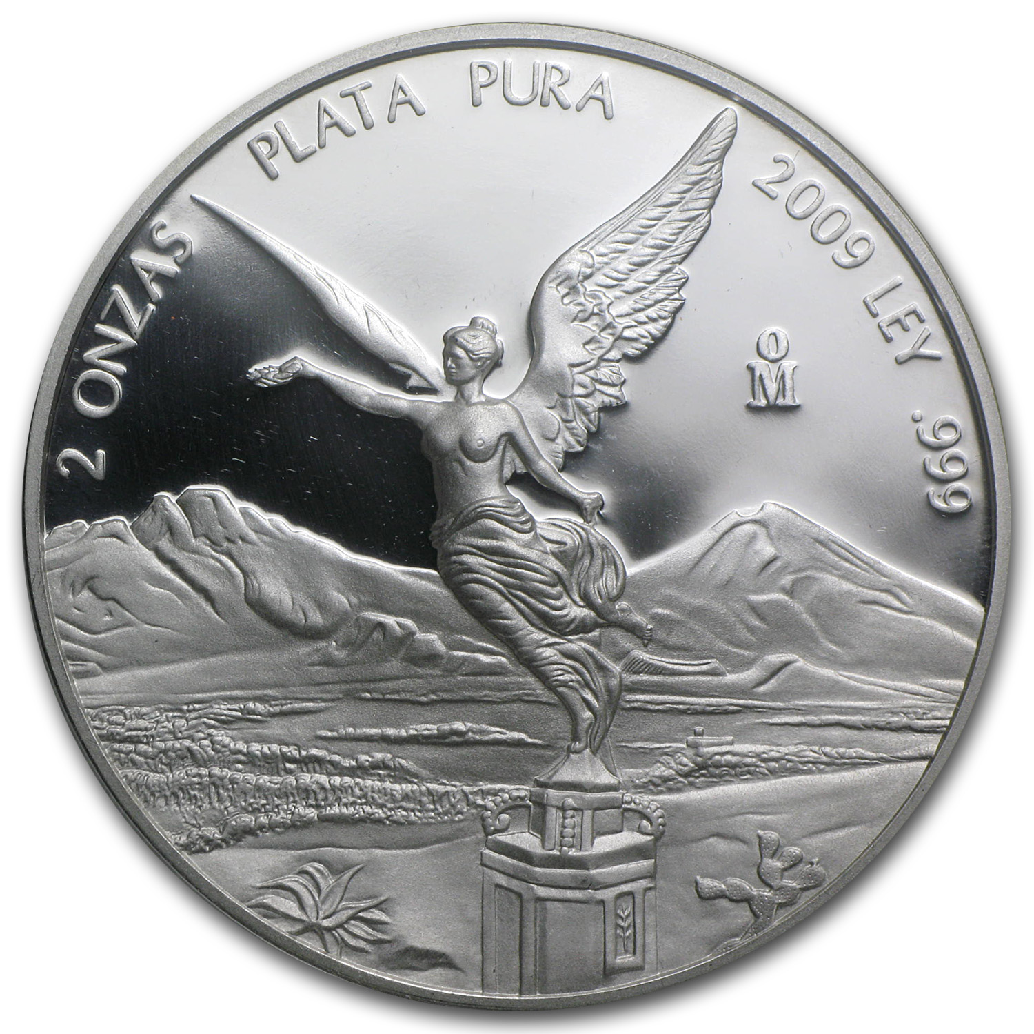 2009 2 oz Silver Mexican Libertad Proof (In Capsule)