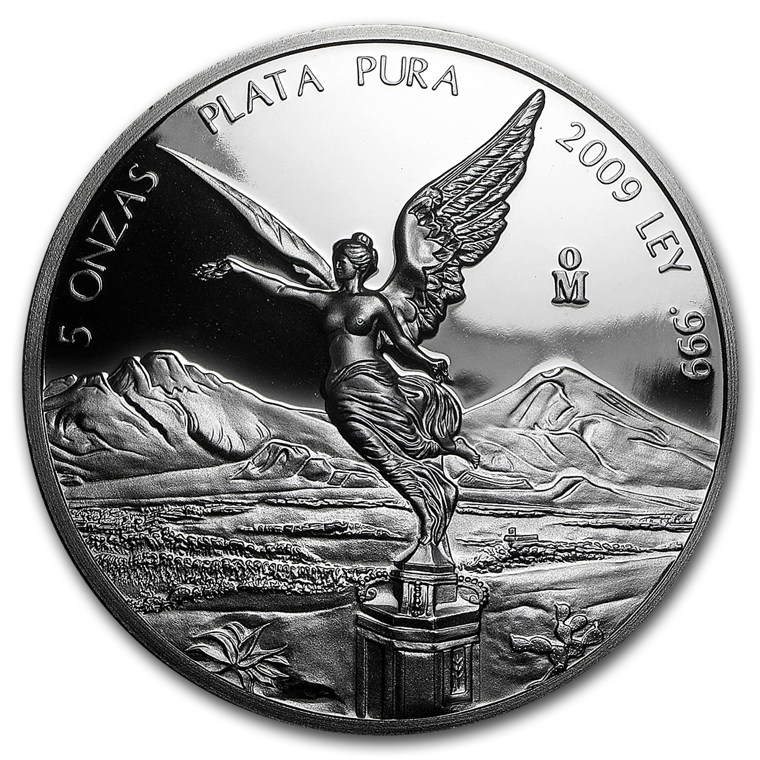 2009 Mexican 5 oz Silver Libertad Proof (In Capsule)