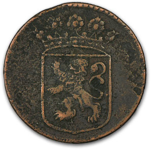 1726-1794 Netherlands East Indies Bronze Duit New York Penny
