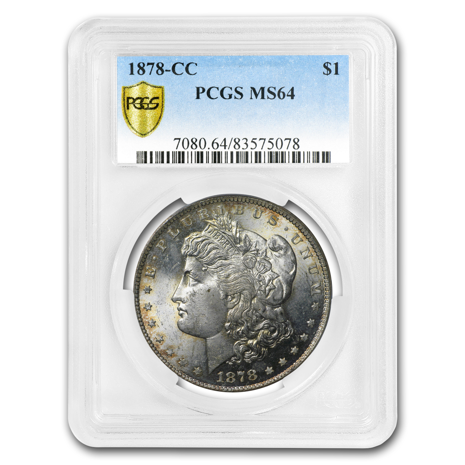 1878-CC Morgan Dollar MS-64 PCGS (Original Toned)