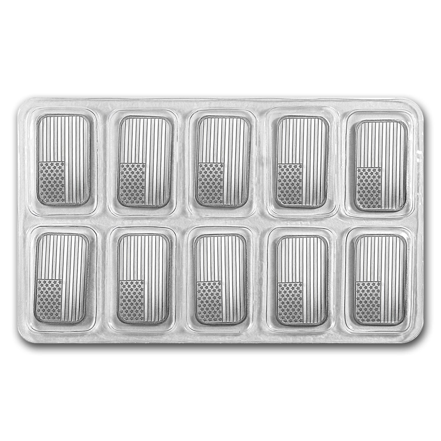 1 oz Silver Bars - American Flag Design
