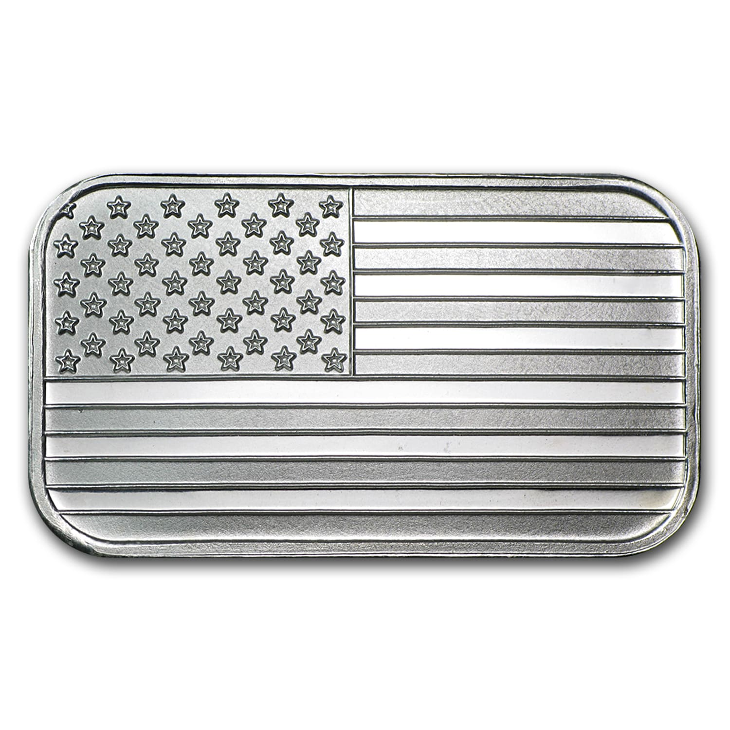 1 oz Silver Bar - American Flag Design
