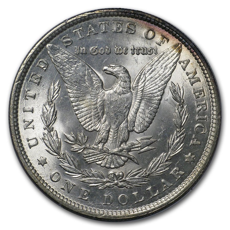 1878-1904 Morgan Dollars - MS-62 PCGS (Old Rattler Holders)
