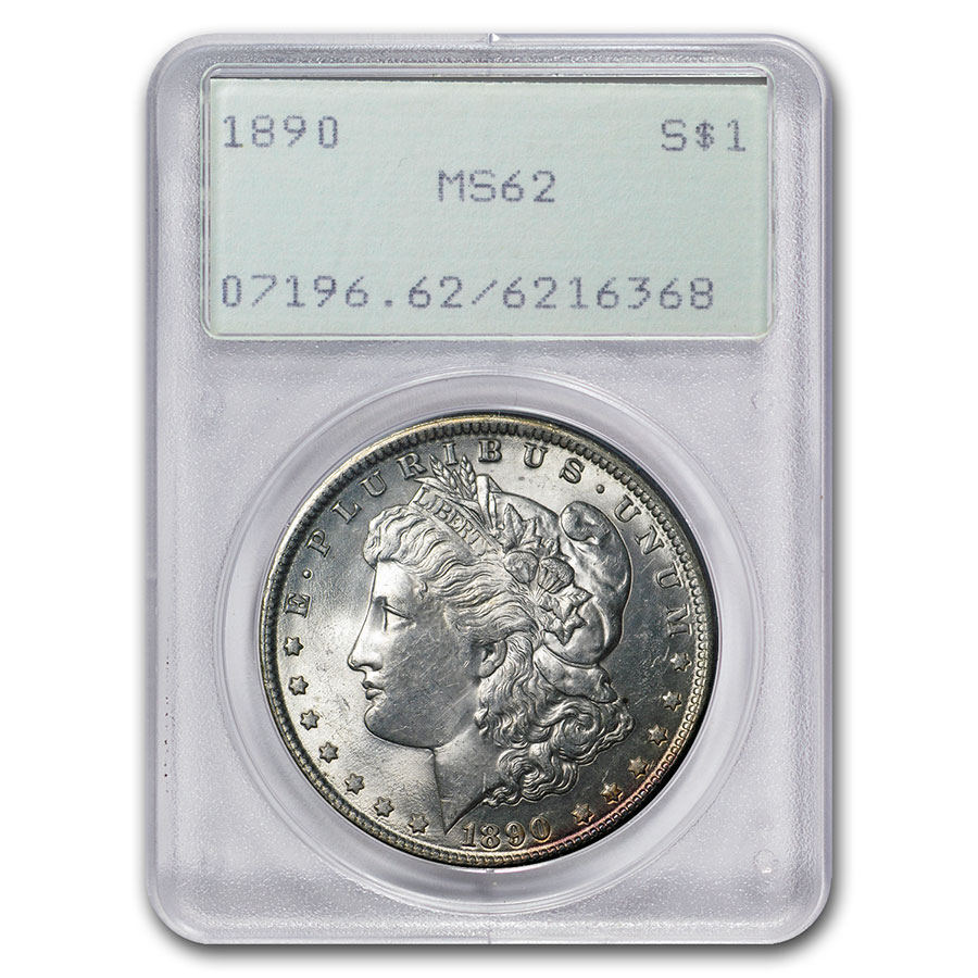 1878-1904 Morgan Dollars MS-62 PCGS (Old Rattler Holder)
