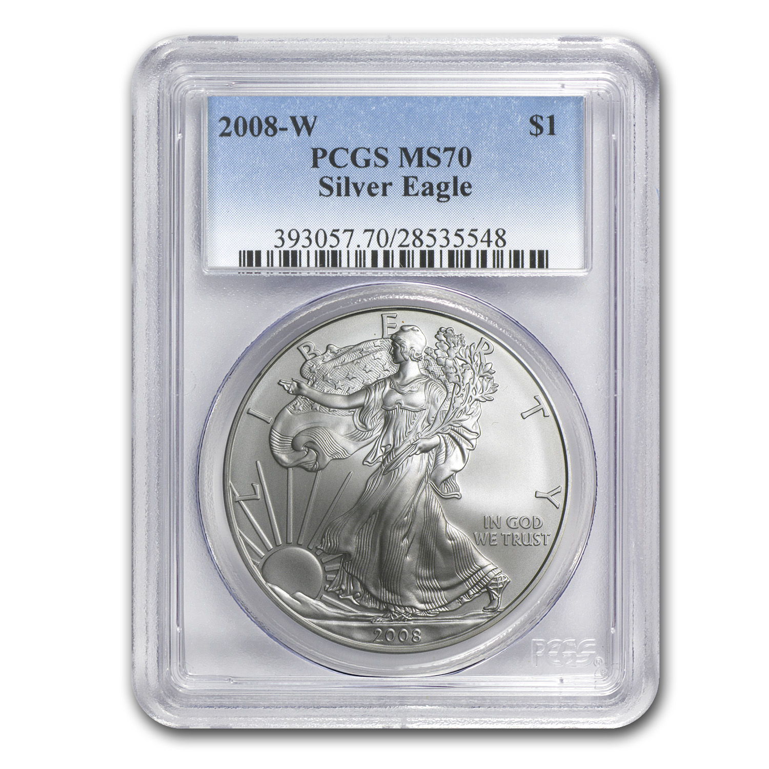 2008-W Burnished Silver American Eagle MS-70 PCGS