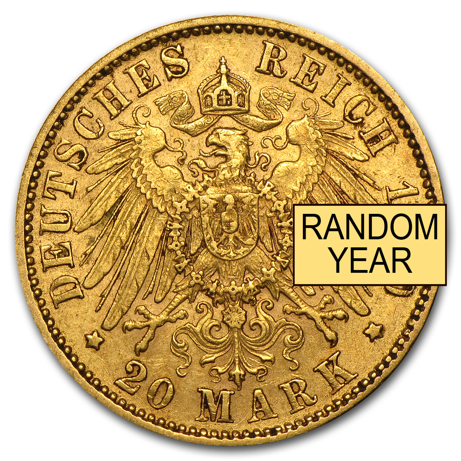 1895-1913 Germany Gold 20 Mark Bavaria Otto Avg Circ