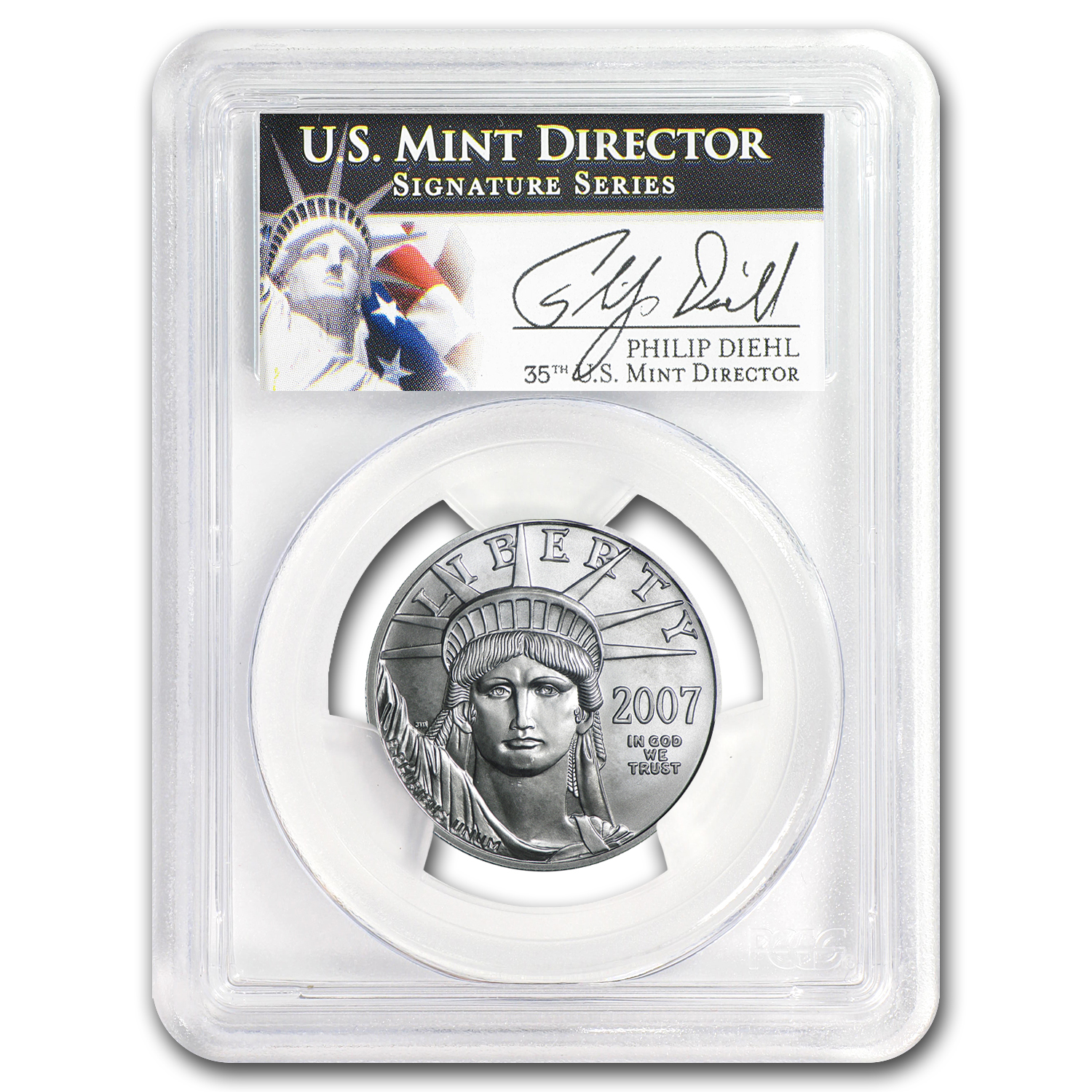 2007-W 1/2 oz Burnished Platinum American Eagle MS-69 PCGS