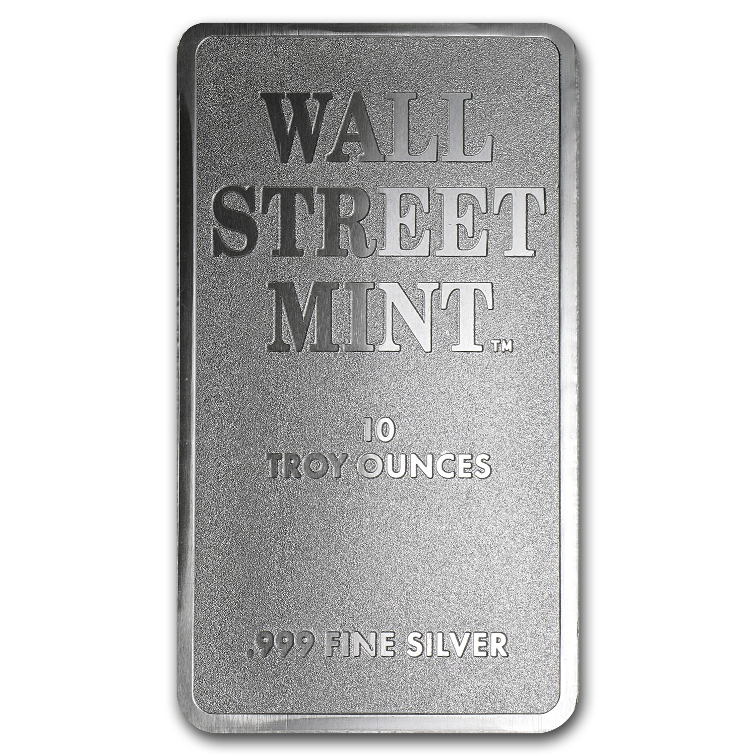 10 oz Silver Bar - Wall Street Mint (Type 2)