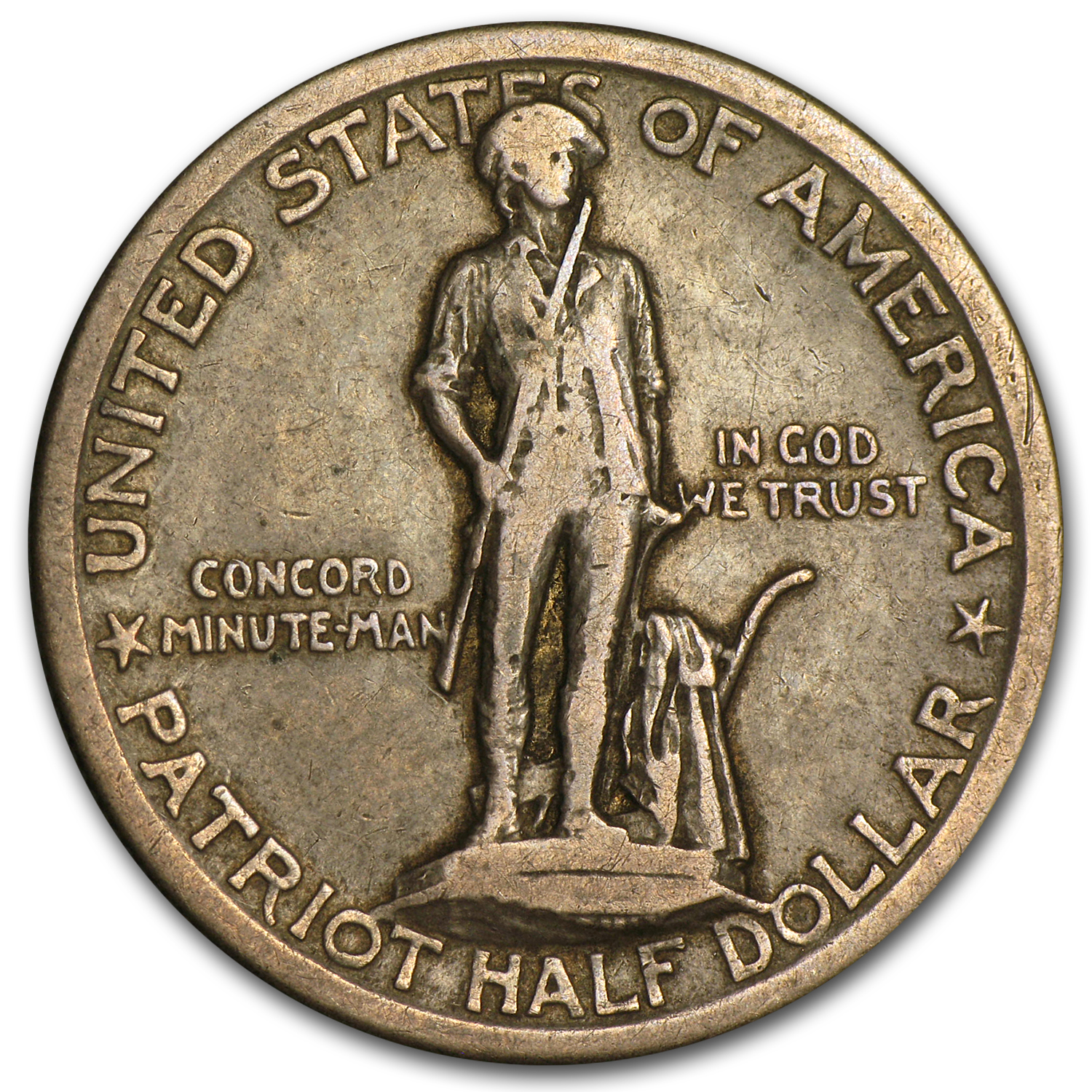 1925 Lexington-Concord Sesquicentennial Half VF