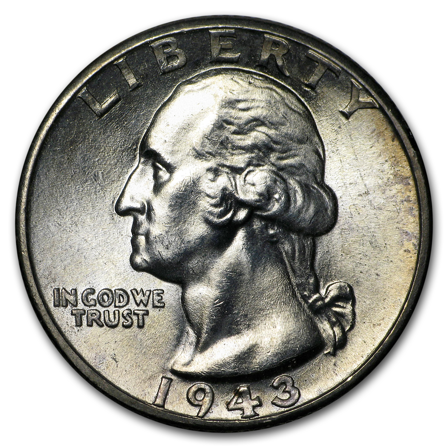 1943-D Washington Quarter BU