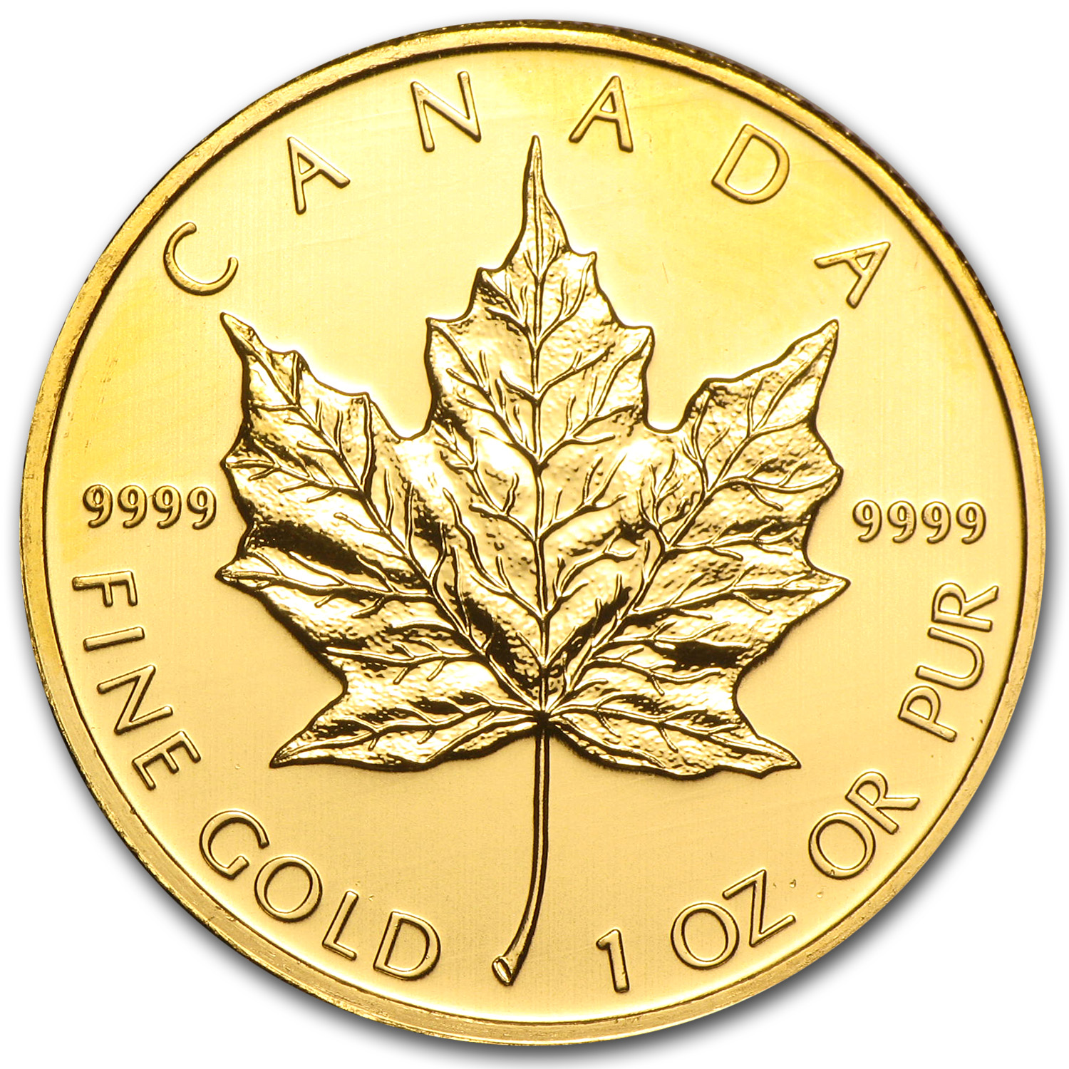 2010 1 oz Gold Canadian Maple Leaf BU