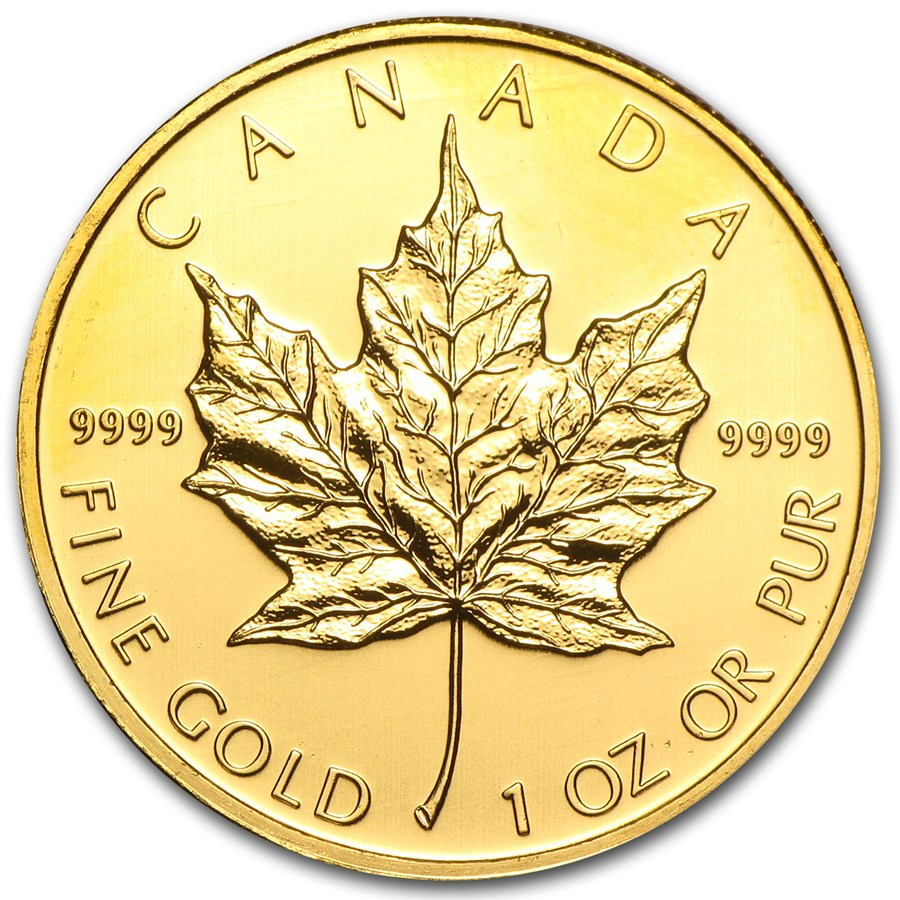 2010 Canada 1 Oz Gold Maple Leaf Bu 1 Oz Gold Maple