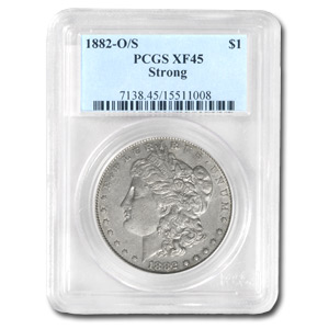 1882-O/S Morgan Dollar Strong XF-45 PCGS (VAM, Top-100)