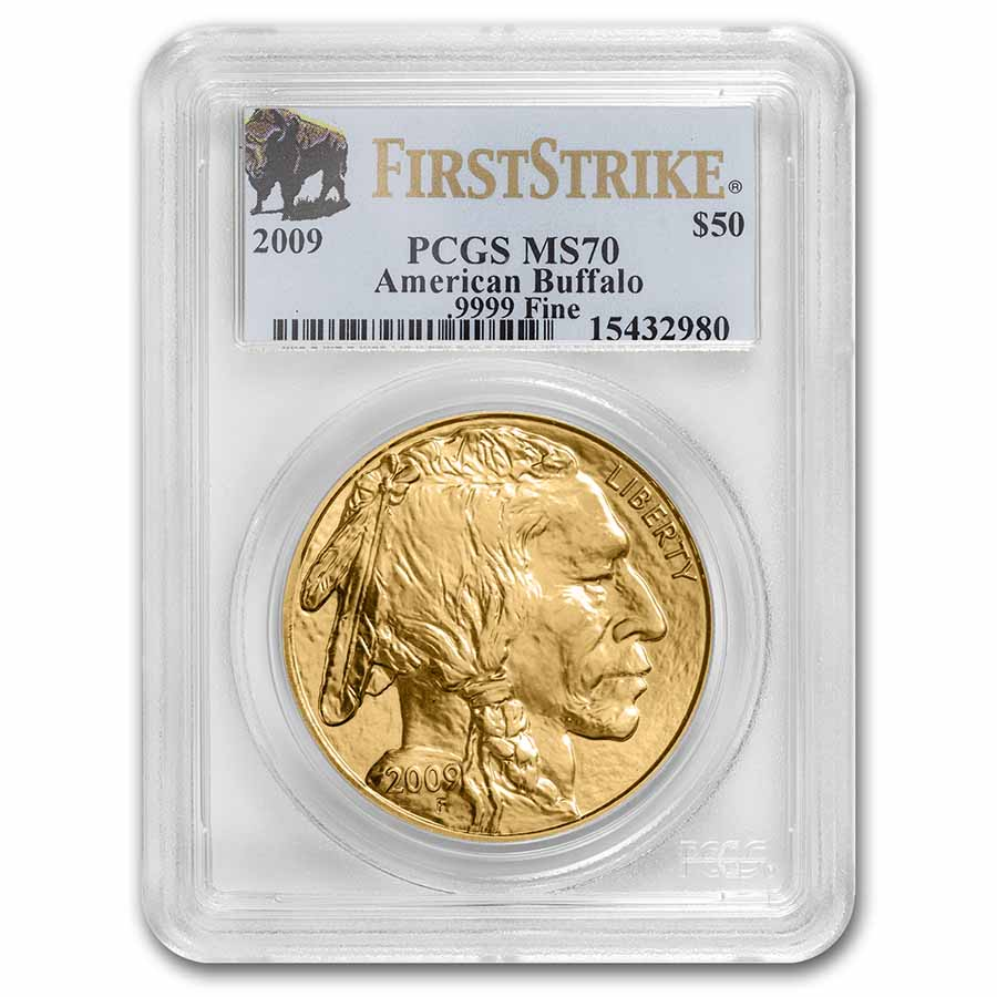 2009 1 oz Gold Buffalo MS-70 PCGS (First Strike)