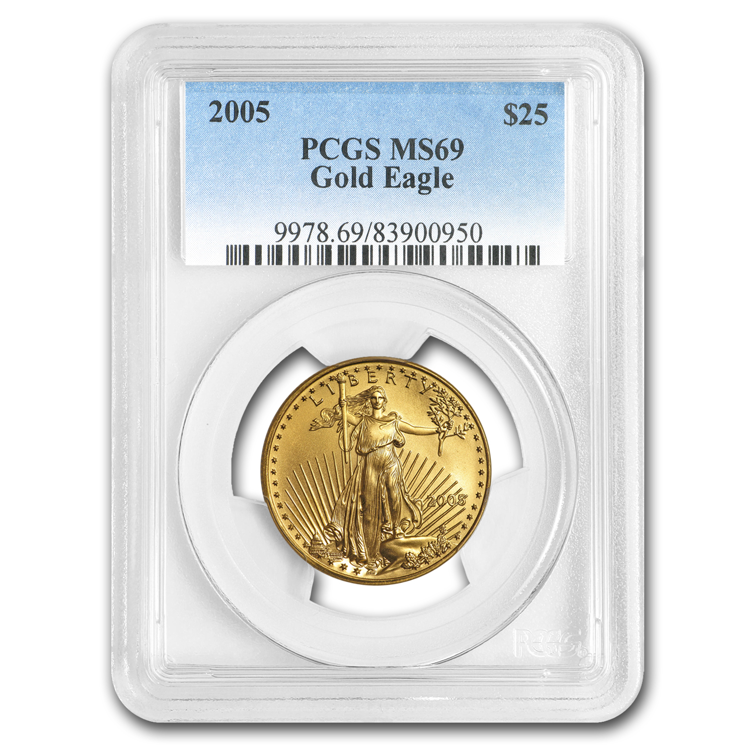 2005 1/2 oz Gold American Eagle MS-69 PCGS