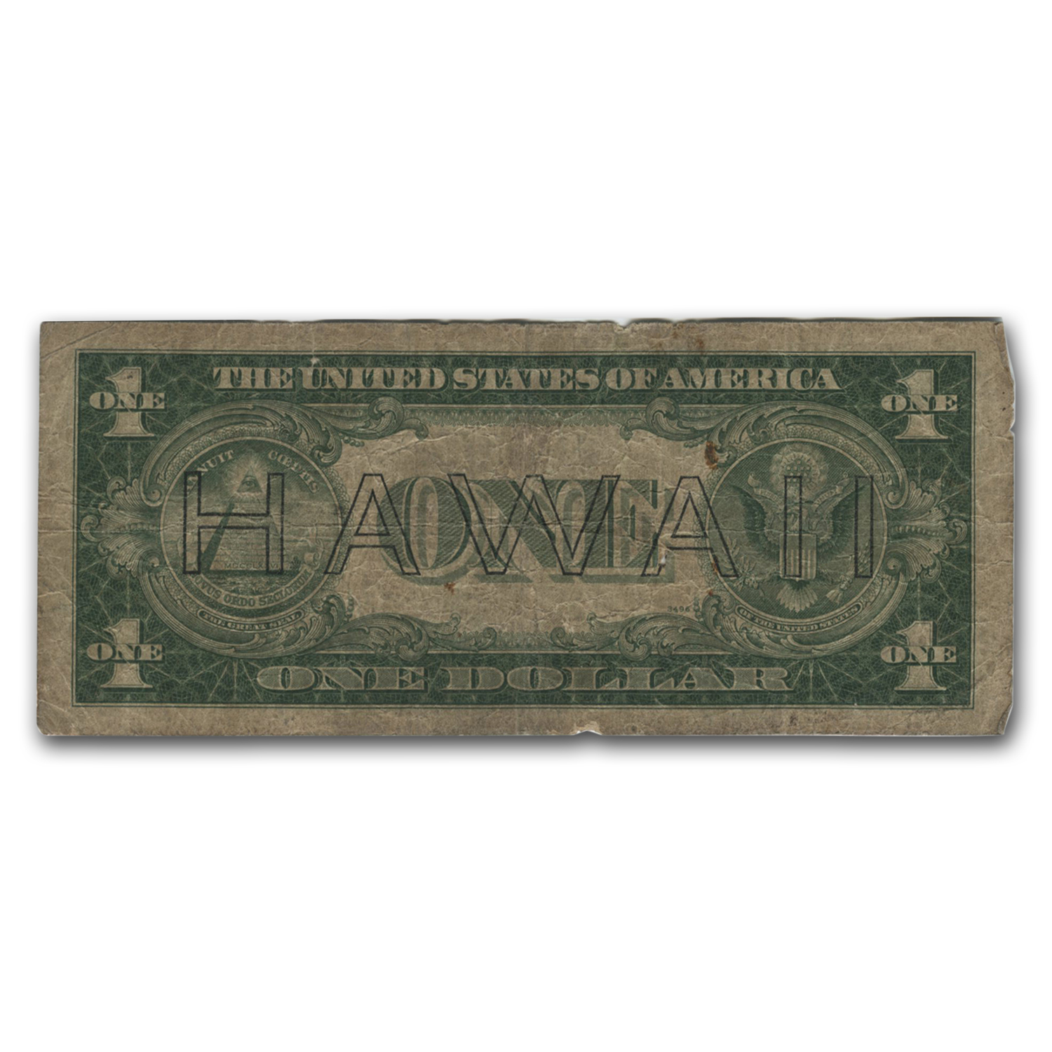 1935-A $1- Brown Seal (Hawaii) Culls