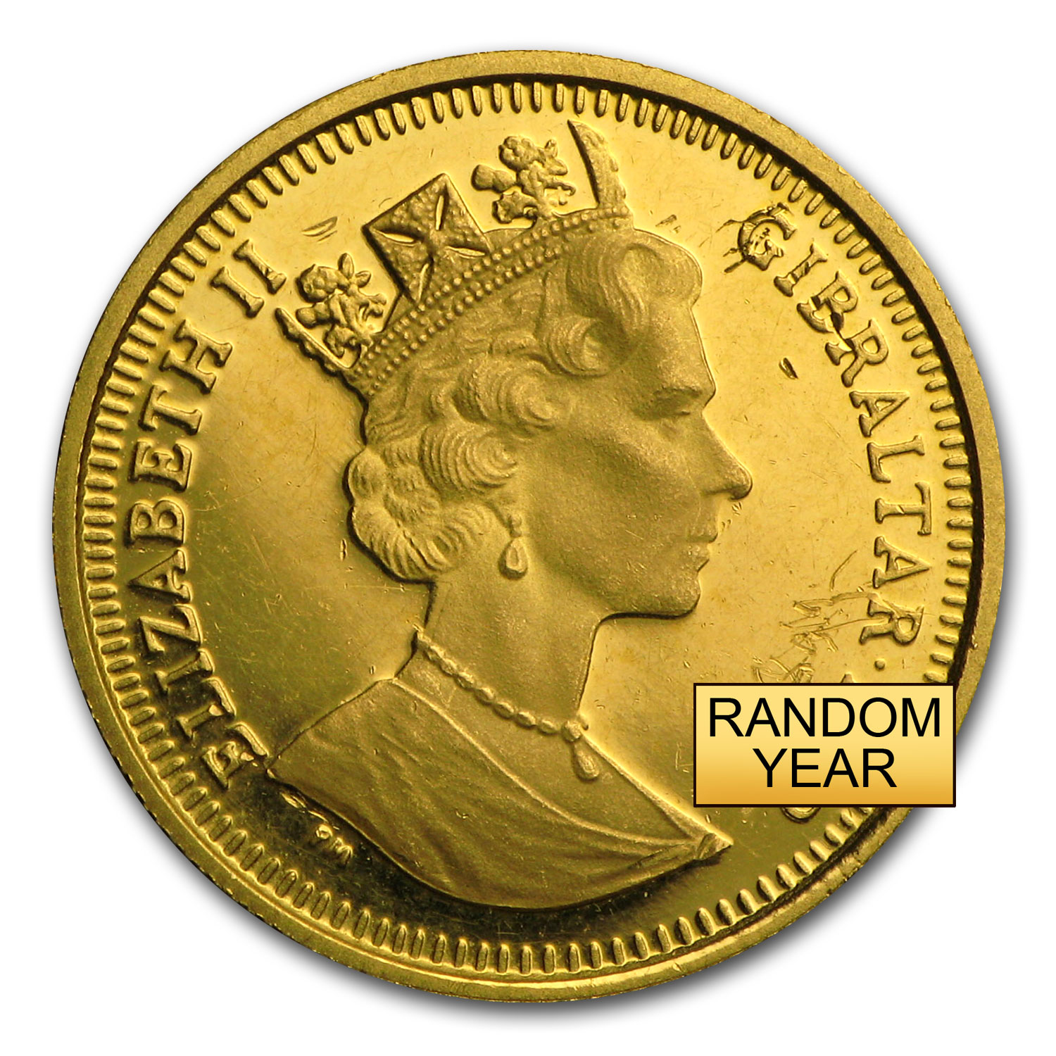 Gibraltar Gold 1/10 oz Royal Cherubs BU (Random Dates)