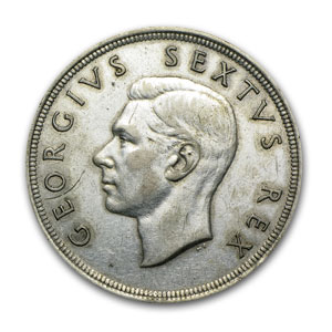 1951-1960 South Africa Silver 5 Shillings EF/AU