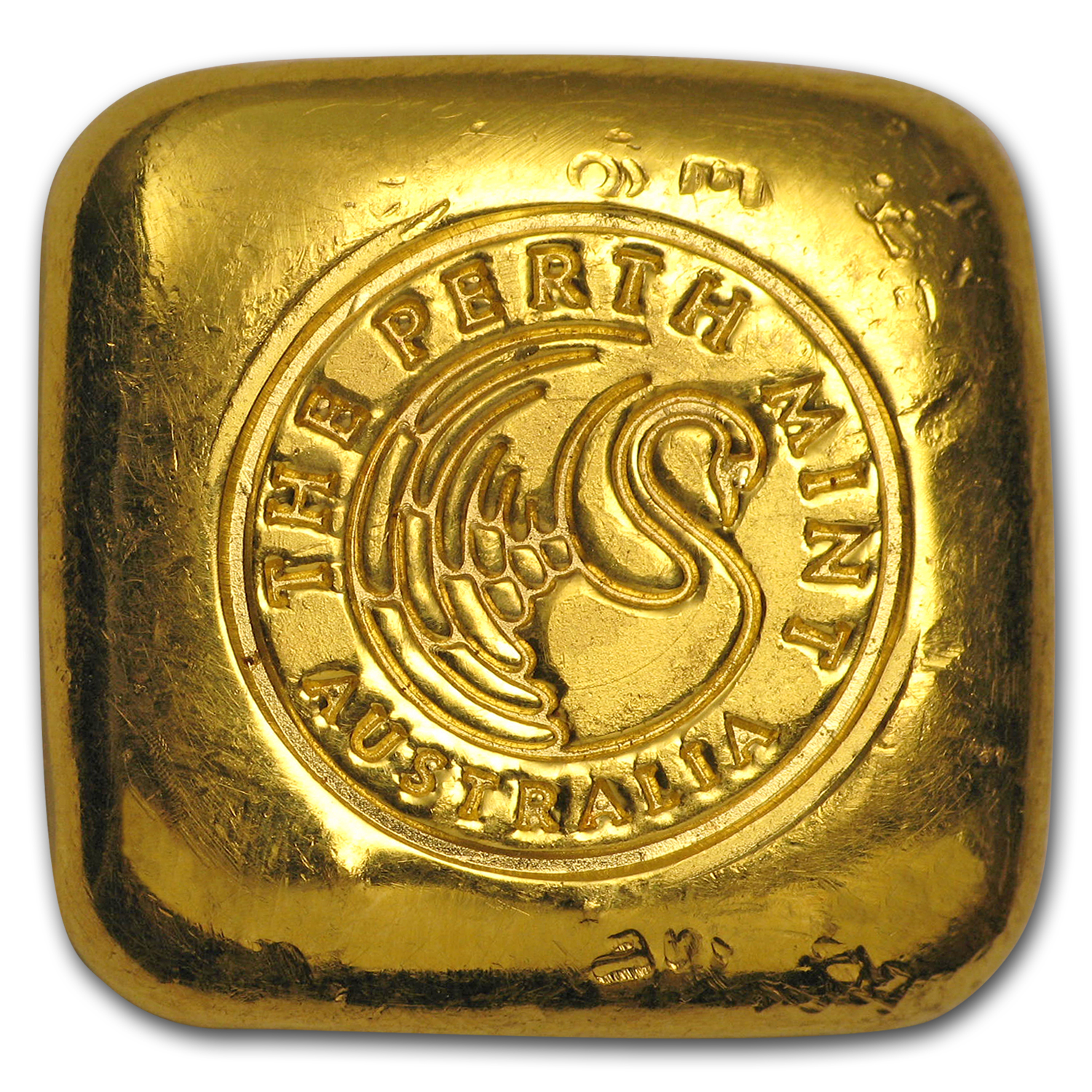 1 oz Gold Bar - Perth Mint (Square Button)