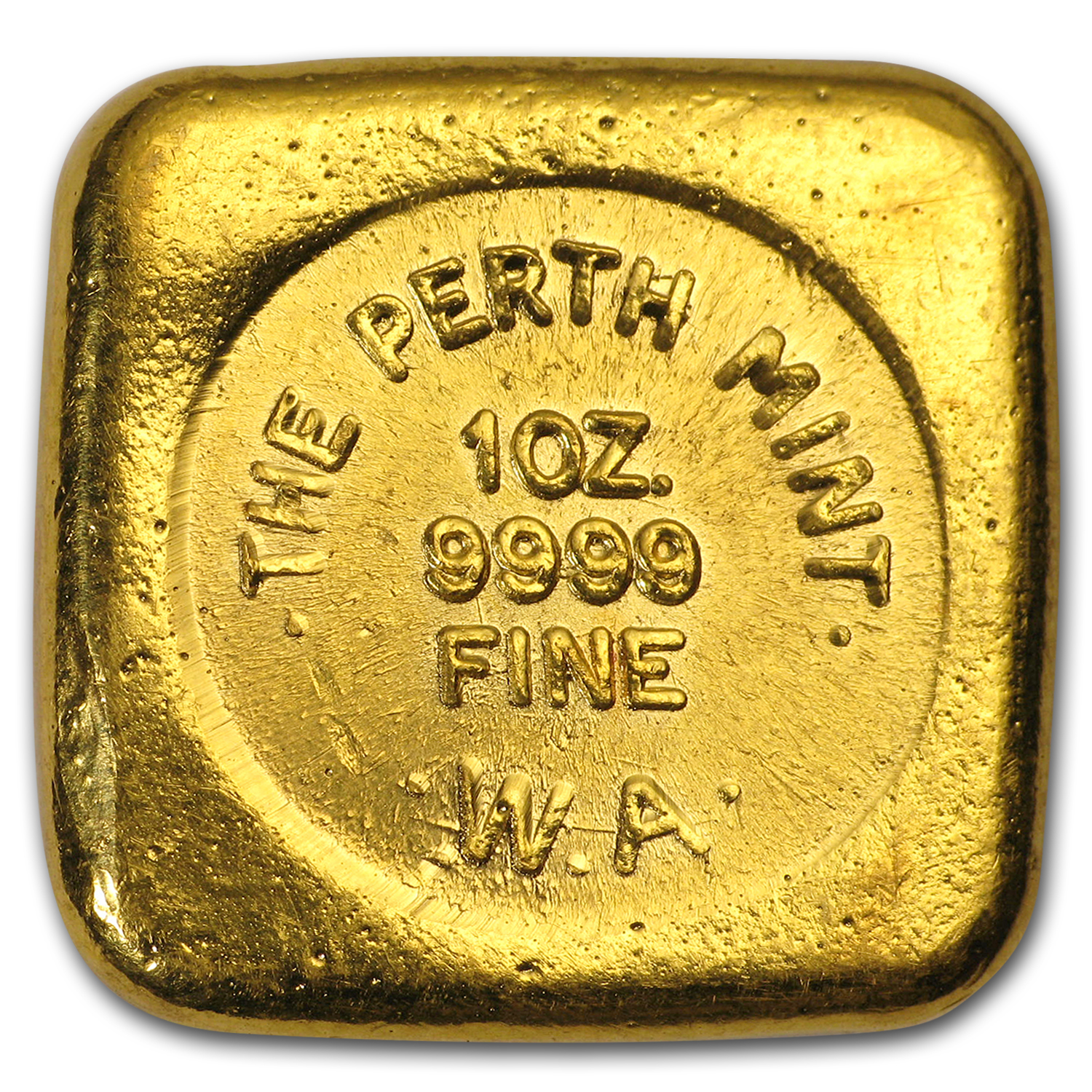 1 oz Gold Bars - Perth Mint (Square Button)