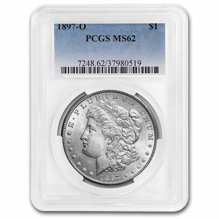 1897-O Morgan Dollar MS-62 PCGS