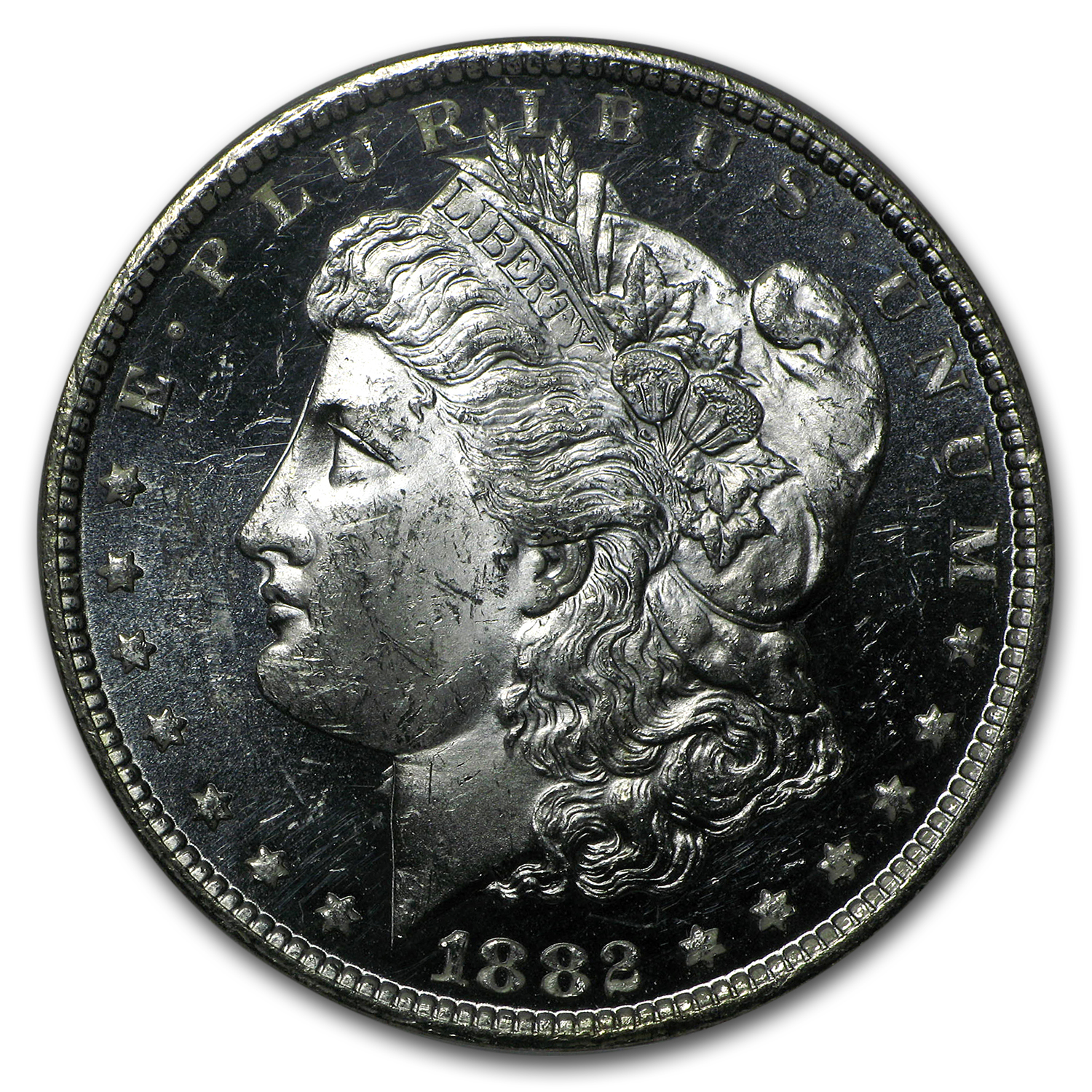 1882-CC Morgan Dollar MS-63 DPL NGC