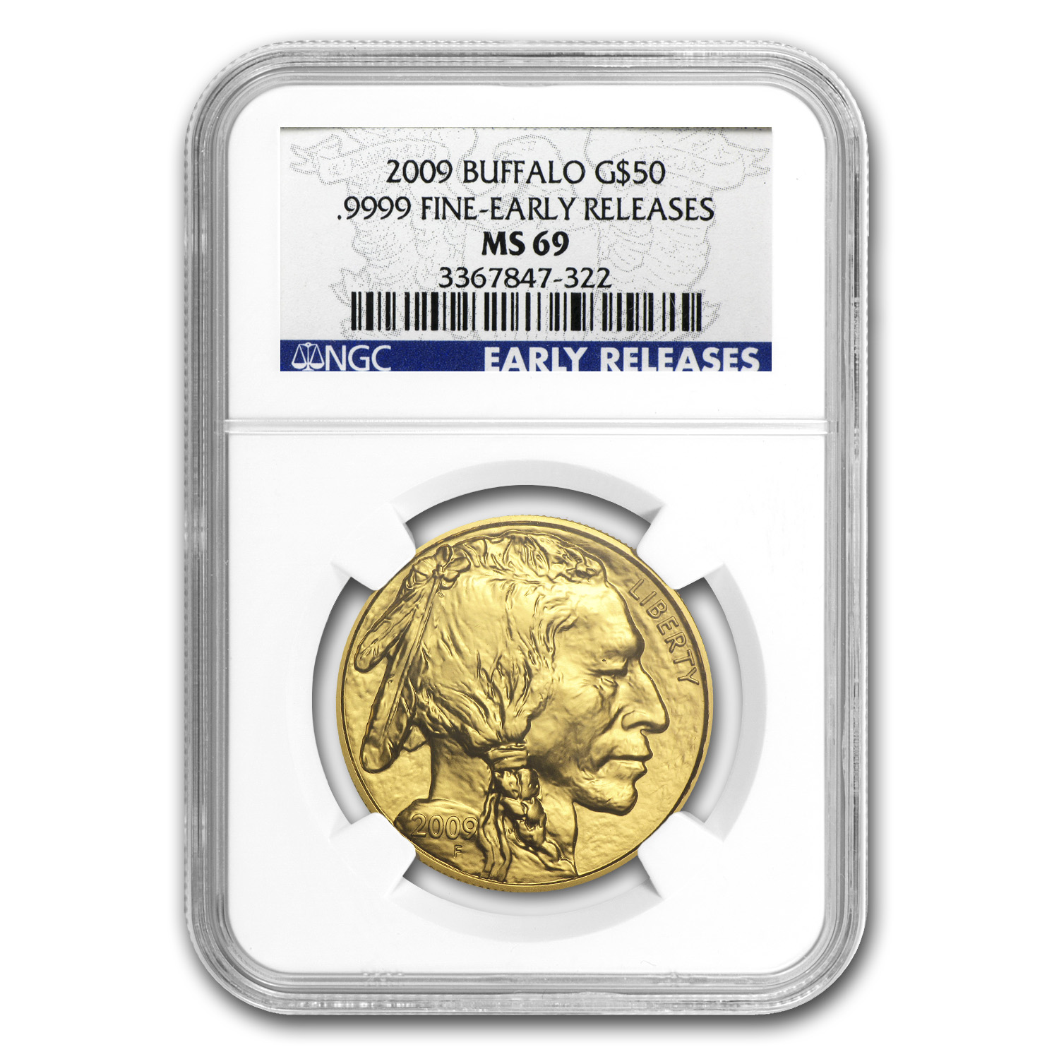 2009 1 oz Gold Buffalo MS-69 NGC (Early Releases)