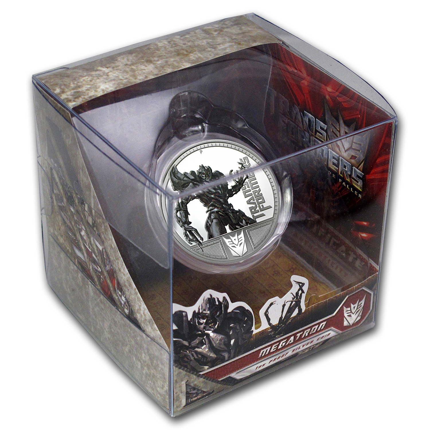 2009 1 oz Proof Silver Megatron- 1st Transformers Series