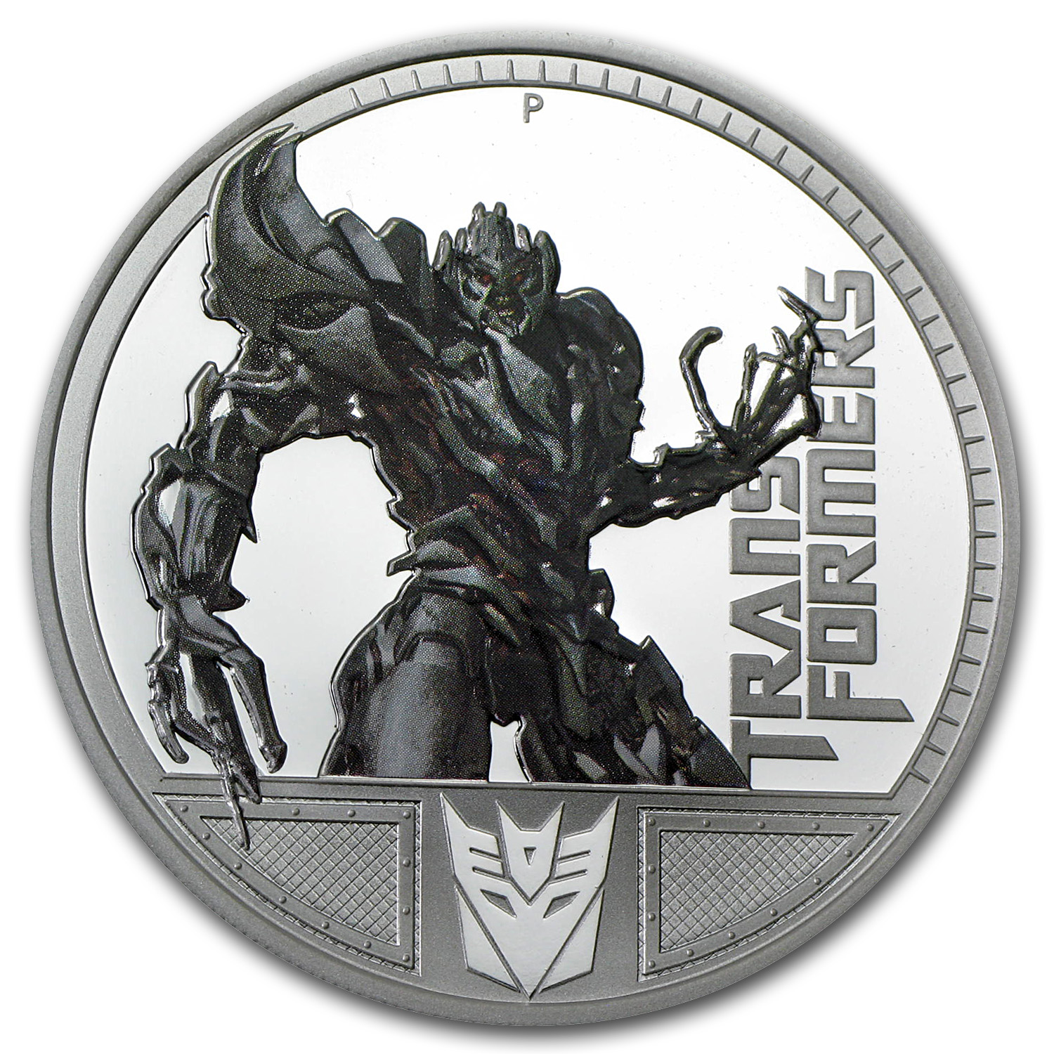 2009 1 oz Silver 1st Transformers Series Proof (Megatron)