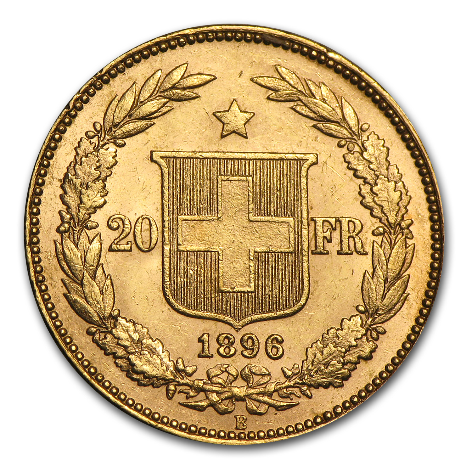 Switzerland 1883-1896 Gold 20 Francs (Extra Fine or Better)