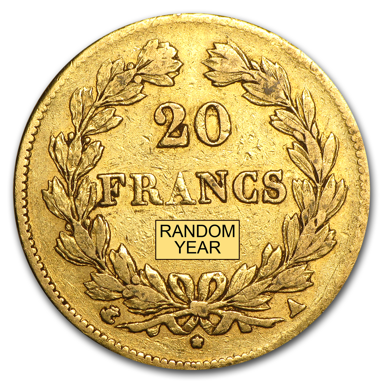 France Gold 20 Francs (1830-1848 Louis Philippe) (Circulated)
